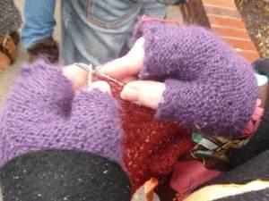 line-knitting
